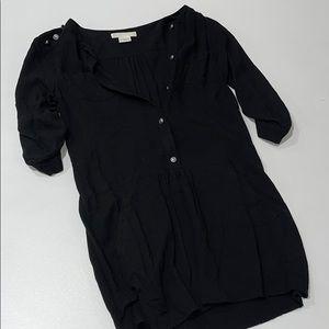 Black Button Up Dress (Size XS)